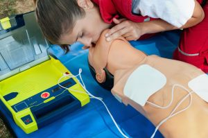 CPR with an AED