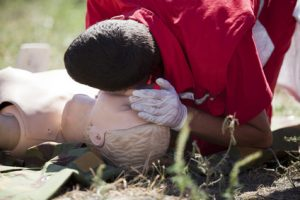 Checking airway during CPR